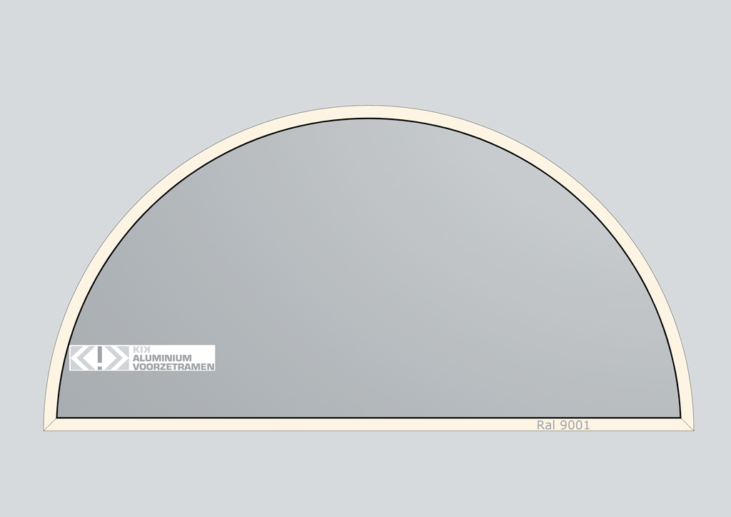 Kik aluminium voorzetramen modellen voorzetramen - Halve cirkelbank ...